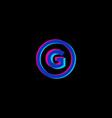 color shift g monogram vector image