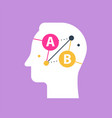 decision making online education vector image vector image