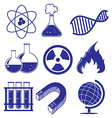Doodle design of the different science images vector image vector image