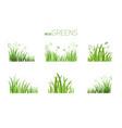 eco icon grass vector image
