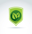 Ecology icon for nature and environment vector image vector image