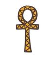 Egypt symbols Ankh Hieroglyph on white vector image vector image