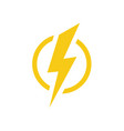 electric lighting icon power symbol vector image