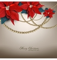 Elegant background with Christmas garland vector image