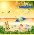 enjoy summer vocation vector image vector image