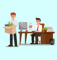 frustrated fired worker flat vector image