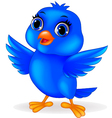 Funny blue bird cartoon vector | Price: 1 Credit (USD $1)