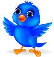 Funny Blue Bird Cartoon vector image vector image