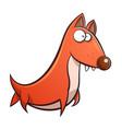 funny cute dog cartoon vector image