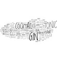 gin word cloud concept vector image vector image