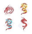 glass creative elegance dragons symbols set vector image vector image