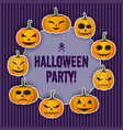 happy halloween greeting template vector image