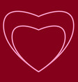 heart with a heart inside vector image vector image
