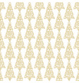 holiday seamless pattern with golden hand vector image