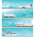 infographic of industrial transport vector image vector image