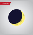 isolated half moon flat icon crescent vector image vector image