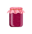 jar of homemade raspberry jam vector image