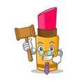 judge lipstick character cartoon style vector image vector image