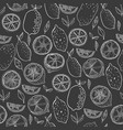 lemons seamless pattern for decoration vector image vector image