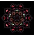 lotus flower geometric mandala vector image vector image