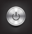 Metal Power Button vector image