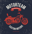 Motorcycle vintage graphics Road Trip t-shirt vector image vector image