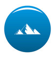 mountain peak icon blue vector image vector image