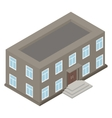 New architecture isometric house vector image vector image