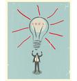 of idea bulb retro poster vector image vector image