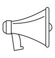 old megaphone icon outline style vector image