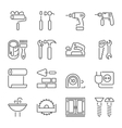 Outline web icons set vector image vector image