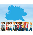 People walking and bubble speech vector image vector image