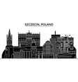 poland szczecin architecture city skyline vector image