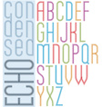 Poster echo light striped font bright transparent vector image vector image