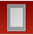 Realistic White vertical frame for paintings vector image