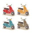 retro scooters isolated italian style vector image vector image
