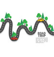road with pins winding road with pin vector image vector image
