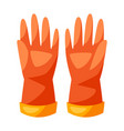 rubber gloves for cleaning vector image