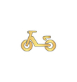 Scooter computer symbol vector image vector image