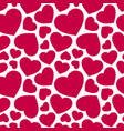 seamless pattern with red hearts valentines day vector image vector image