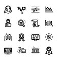 set education icons such as survey check vector image vector image