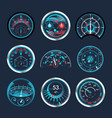 set isolated speedometers for dashboard analog vector image vector image