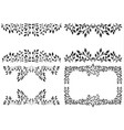 set leafy background vector image