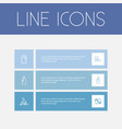 set of 6 editable hygiene icons includes symbols vector image vector image