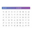 set of 60 line icons seo and smm vector image vector image