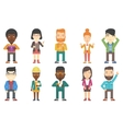 set of business characters vector image