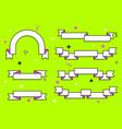 set trendy flat geometric ribbons vivid vector image