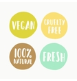 set vegan labels for product package vector image vector image