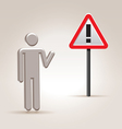sign attention vector image vector image