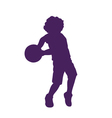 Silhouette of little boy vector image vector image